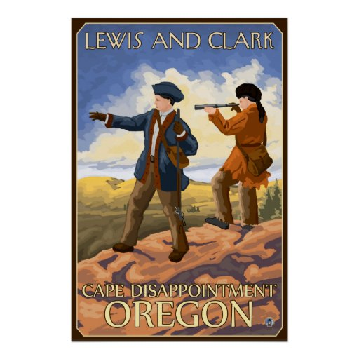 Lewis and Clark - Cape Disappointment, Oregon Print