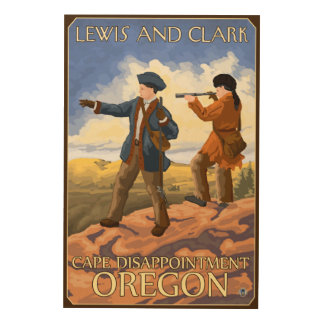Lewis and Clark - Cape Disappointment, Oregon Wood Wall Decor