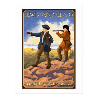 Lewis and Clark - Columbia River Gorge, Oregon Postcard