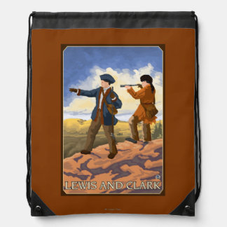 Lewis and Clark Exploring the West Drawstring Bag
