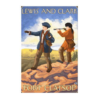 Lewis and Clark - Fort Clatsop, Oregon Canvas Print