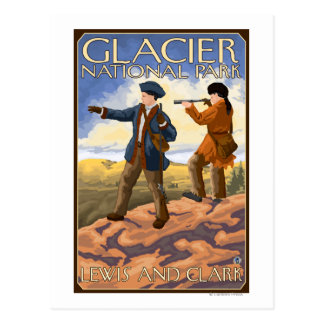 Lewis and Clark - Glacier National Park, MT Postcard