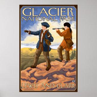 Lewis and Clark - Glacier National Park, MT Poster