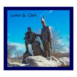 Lewis and Clark Monument Poster