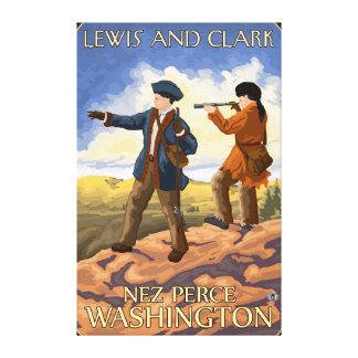 Lewis and Clark - Nez Perce, Washington Canvas Print