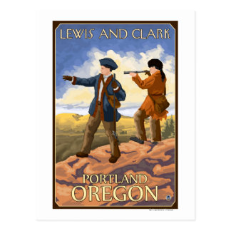 Lewis and Clark - Portland, Oregon Postcard