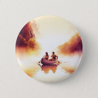 """""""Lewis and Clark"""" River Scene Watercolor Button"""