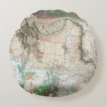 Lewis and Clark Round Pillow