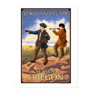 Lewis and Clark - Seaside, Oregon Postcard