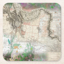 Lewis and Clark Square Paper Coaster