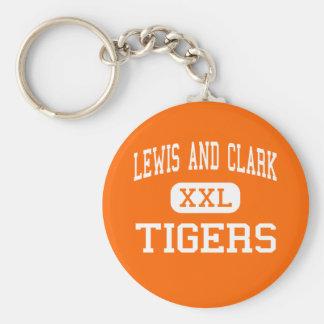 Lewis And Clark - Tigers - High - Spokane Keychain