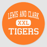 Lewis And Clark - Tigers - High - Spokane Classic Round Sticker