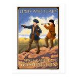Lewis and Clark - Walla Walla, Washington Postcard