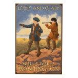 Lewis and Clark - Walla Walla, Washington Wood Prints