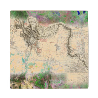 Lewis and Clark Wood Coaster