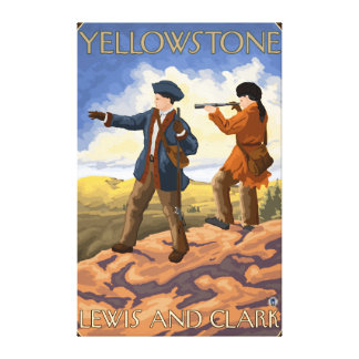 Lewis and Clark - Yellowstone National Park Stretched Canvas Prints