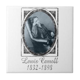 Lewis Carroll Azulejo Cuadrado Pequeño