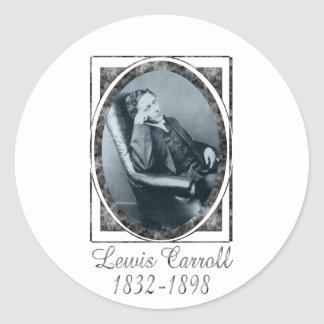 Lewis Carroll Classic Round Sticker