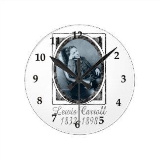 Lewis Carroll Round Clocks