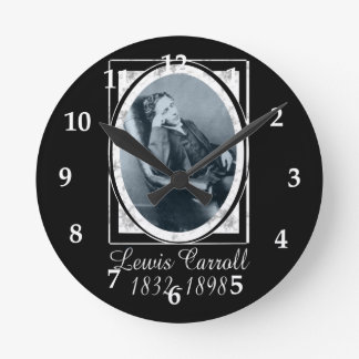 Lewis Carroll Round Wall Clocks