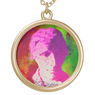 Lewis Carroll Gold Plated Necklace