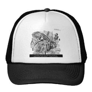 Lewis Carroll Graphic Famous Quote Trucker Hat