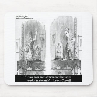 Lewis Carroll Graphic & Famous Quote Mouse Pad