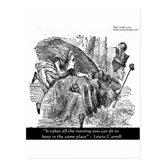 Lewis Carroll Graphic & Famous Quote Postcard