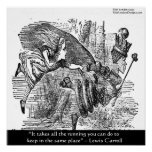 Lewis Carroll Graphic & Famous Quote Poster