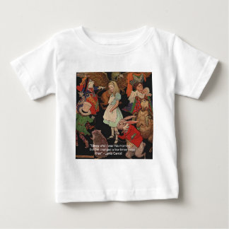 Lewis Carroll Illustration & Mind Change Quote Baby T-Shirt