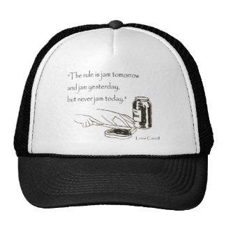 Lewis Carroll Jam Quote Hat