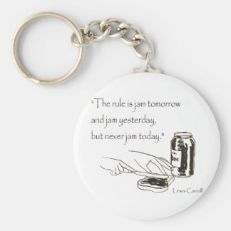 Lewis Carroll Jam Quote Keychain