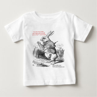 Lewis Carroll Looking Glass Illustration & Quote Baby T-Shirt