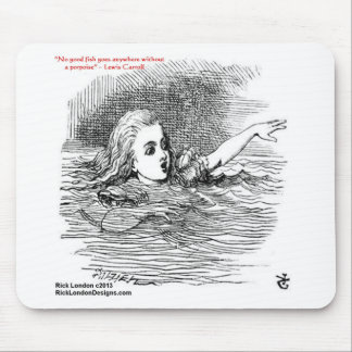 Lewis Carroll Looking Glass Illustration & Quote Mouse Pad