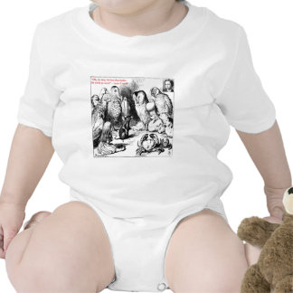 Lewis Carroll Looking Glass Illustration & Quote Tshirts