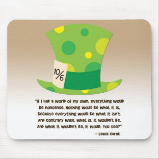 Lewis Carroll Mad Hatter Alice in Wonderland Mouse Pad
