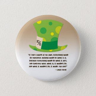 Lewis Carroll Mad Hatter Alice in Wonderland Pinback Button