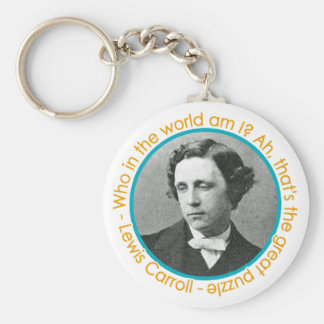 Lewis Carroll Portrait With Quote Keychain