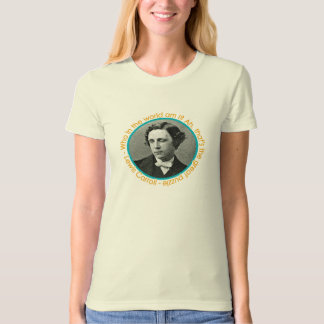 Lewis Carroll Portrait With Quote Shirt