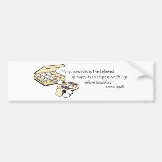 Lewis Carroll Quote Car Bumper Sticker