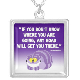 Lewis Carroll Quote Cheshire Cat Necklace