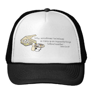 Lewis Carroll Quote Mesh Hat