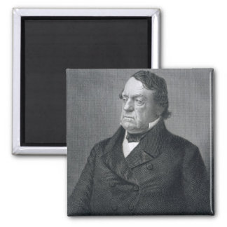 Lewis Cass, engraved by William G. Jackman (fl.c.1 2 Inch Square Magnet