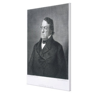 Lewis Cass, engraved by William G. Jackman (fl.c.1 Canvas Print