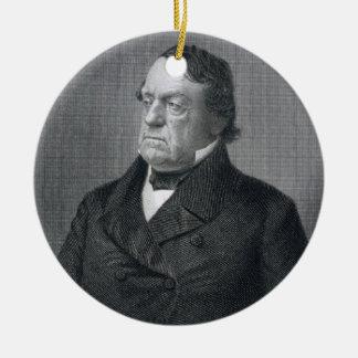 Lewis Cass, engraved by William G. Jackman (fl.c.1 Ceramic Ornament