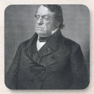 Lewis Cass, engraved by William G. Jackman (fl.c.1 Drink Coaster