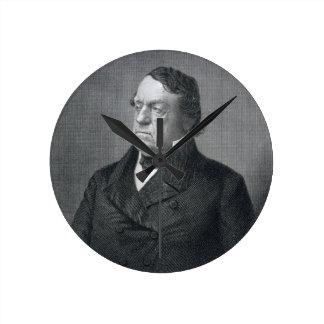 Lewis Cass, engraved by William G. Jackman (fl.c.1 Round Clock