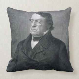 Lewis Cass, engraved by William G. Jackman (fl.c.1 Throw Pillow