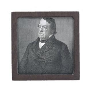 Lewis Cass, grabado por Guillermo G. Jackman (fl.c Caja De Recuerdo De Calidad