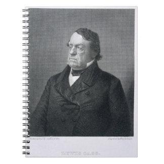 Lewis Cass, grabado por Guillermo G. Jackman (fl.c Notebook